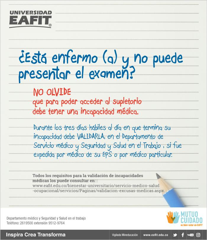 Validacion Excusas Medicas Servicio Medico Y Seguridad Y Salud En